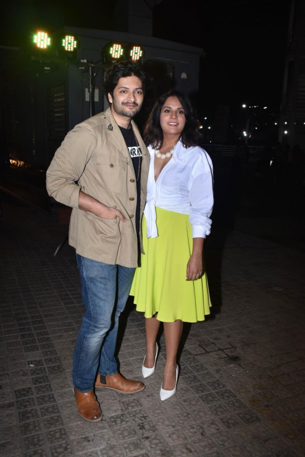 Ali Fazal And Richa Chadha Together At A Movie Screening