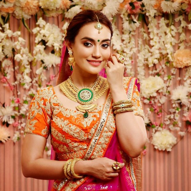 Surbhi Jyoti Looks Beautiful In A Bridal Dress
