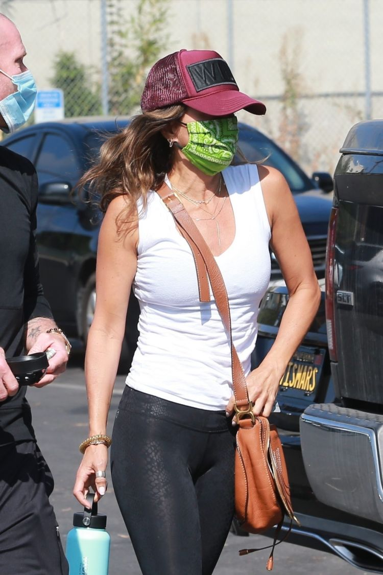 Brooke Burke In Tights Outside A Gym In West Hollywood