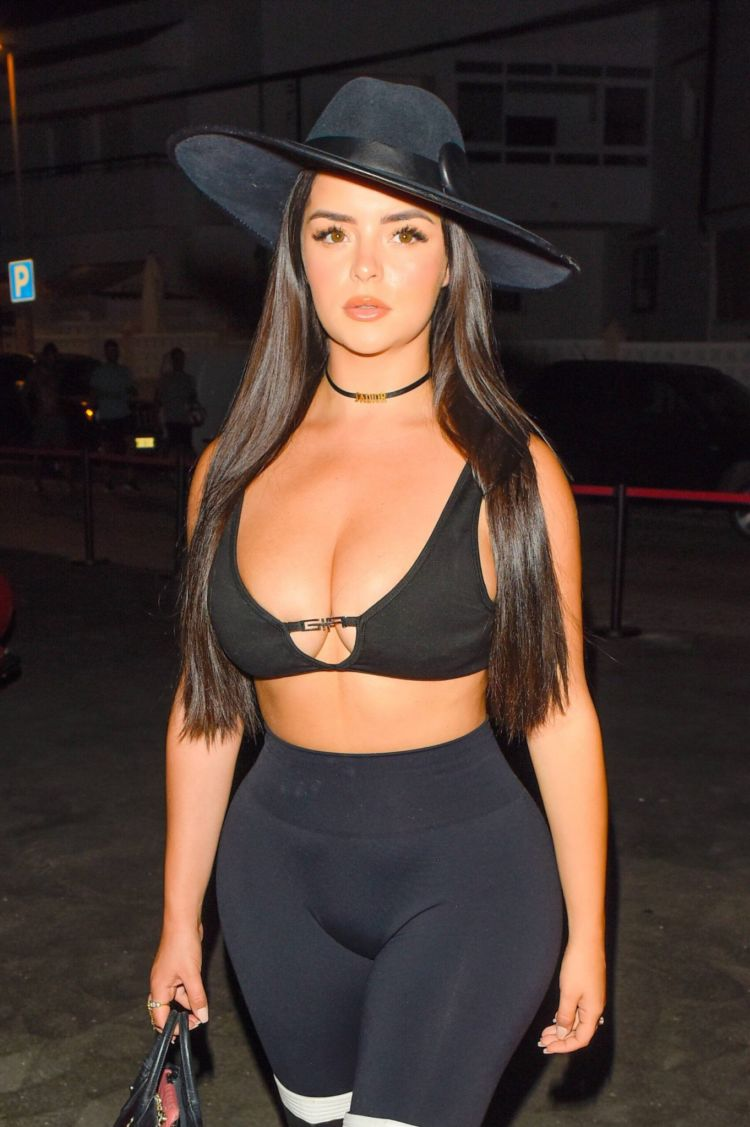 Demi Rose Mawby Enjoys The Bull Game Out In Ibiza