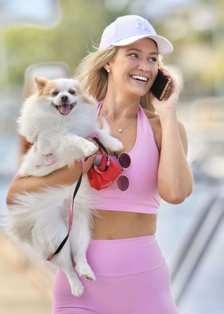 Pretty Gemma White Candids In A Pink Outfit On The Gold Coast