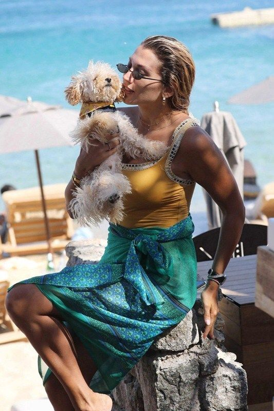 Konstantina Spyropoulou Vacationing In Swimsuit At The Beach In Mykonos Island