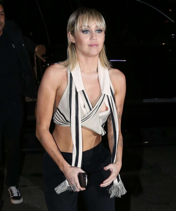 Miley Cyrus Candids Outside The Bowery Hotel In New York
