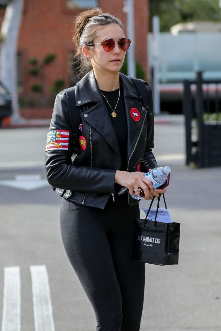 Nina Dobrev Shopping At XIV Karats In Beverly Hills