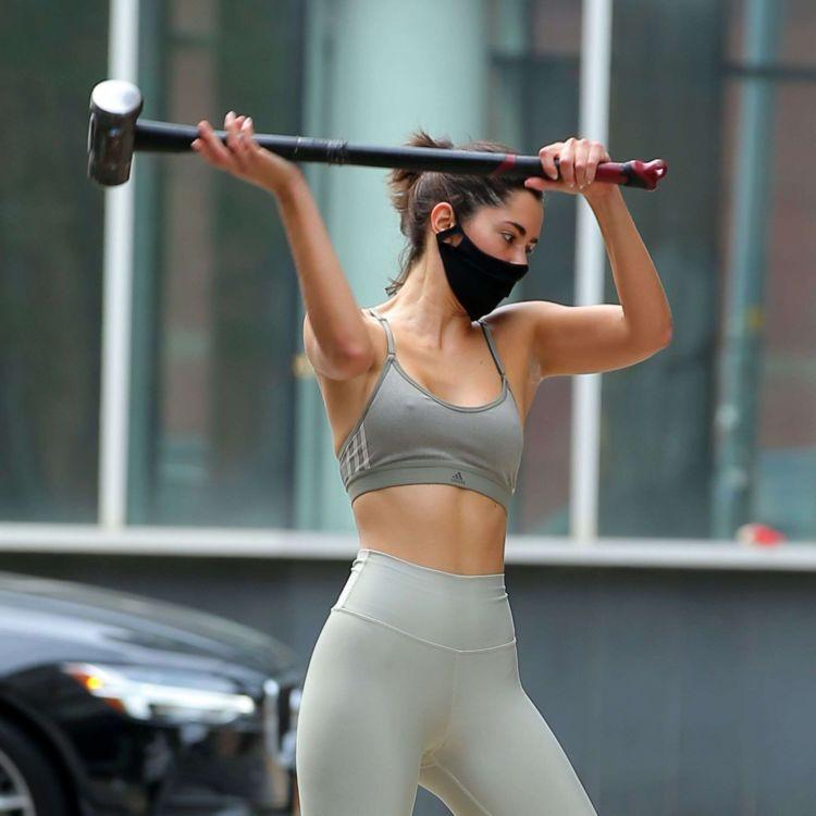 Paulina Vega Dieppa Working Out At Dogpound Gym