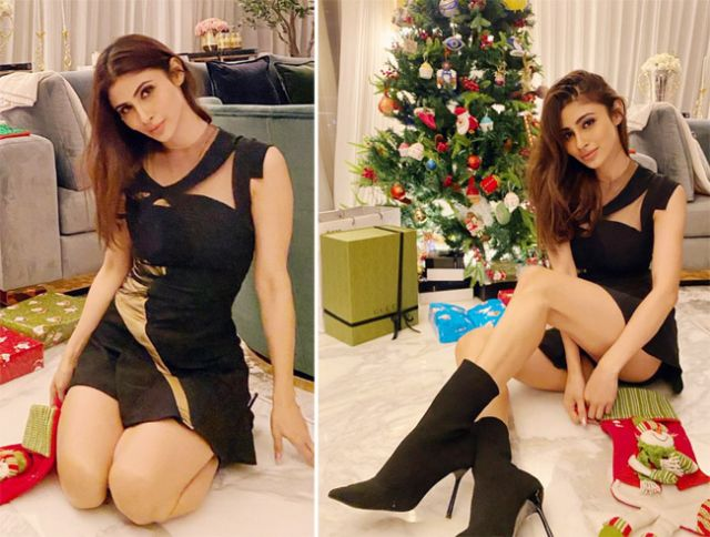 Mouni Roy Celebrated Christmas With Style And Glamour
