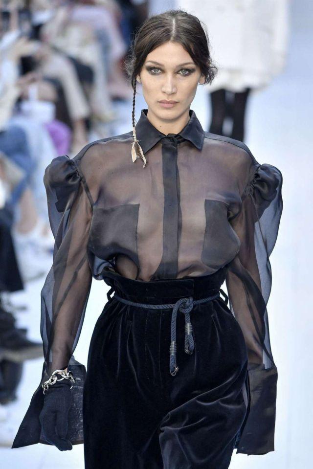 Bella Hadid Walks At Max Mara Fashion Show 2020