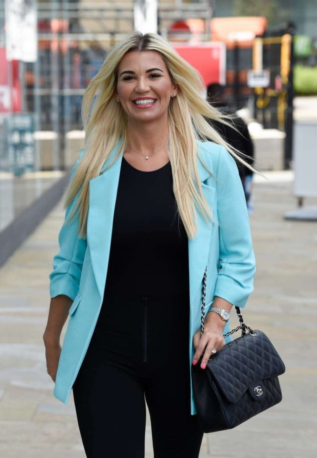 Gorgeous Christine McGuinness Candids In Jeans Out In Liverpool