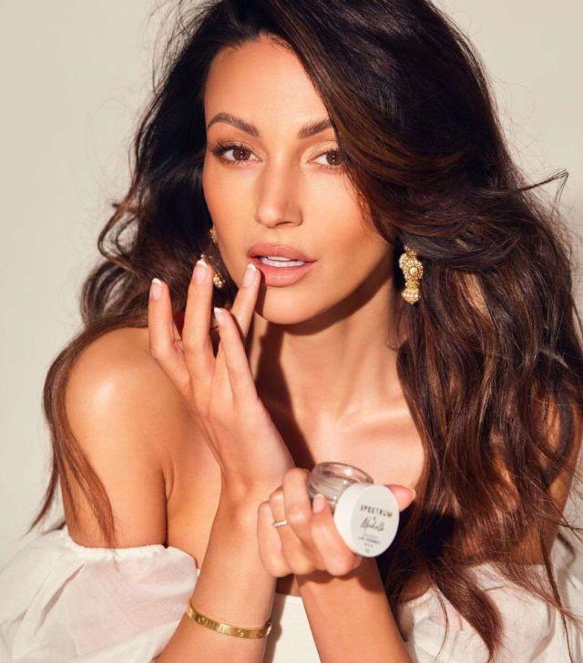 Beautiful Michelle Keegan For Makeup Line Range Photoshoot With Spectrum 2021