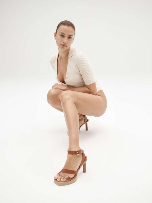 Irina Shayk Showcasing Tamara Mellon Collection 2021