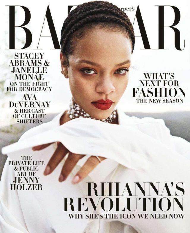 Rihanna Shoots For Harper's Bazaar Magazine 2020