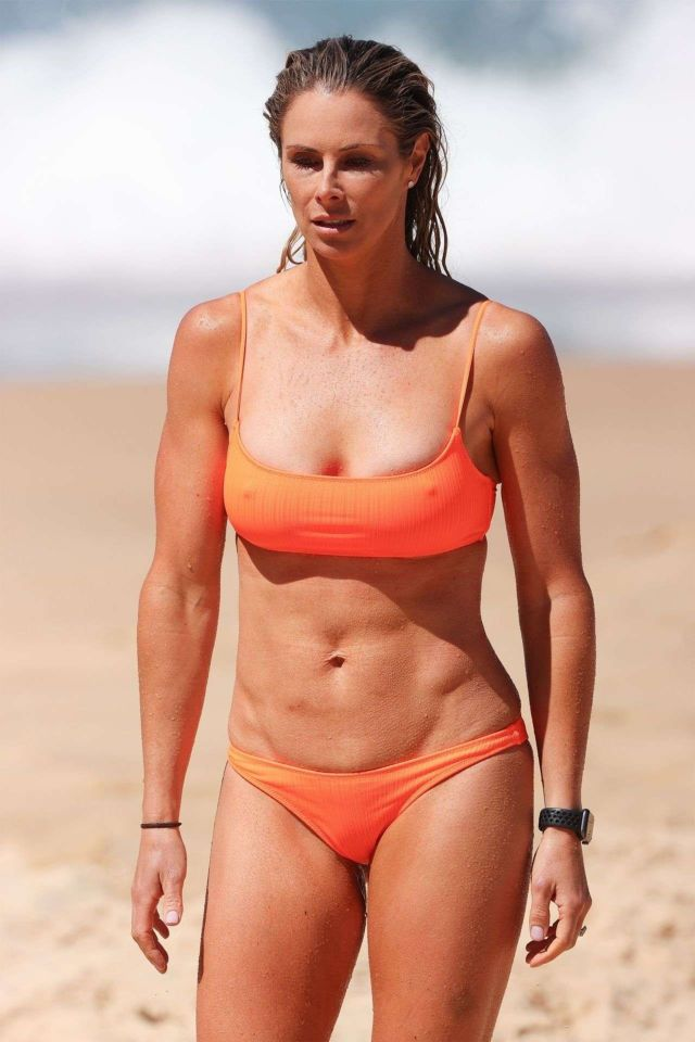 Candice Warner In A Orange Bikini At The Beach In Maroubra
