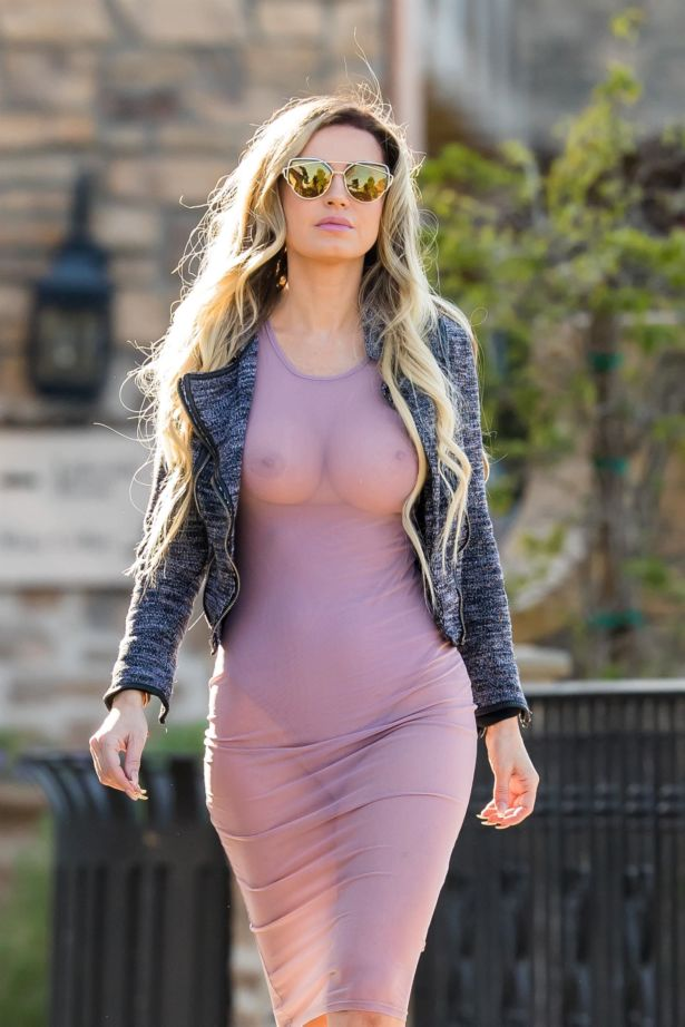 Model Ana Braga Spotted In LA
